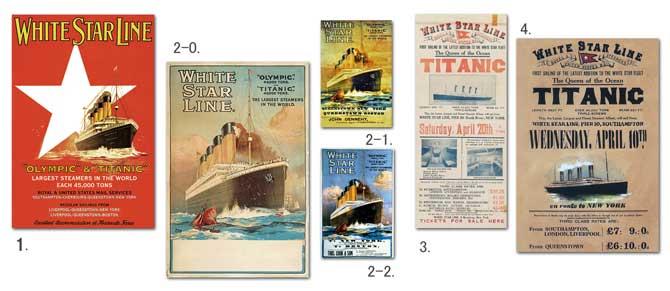 タイタニックのポスター一覧:四方海話:ポスター販売・Ocean-Note